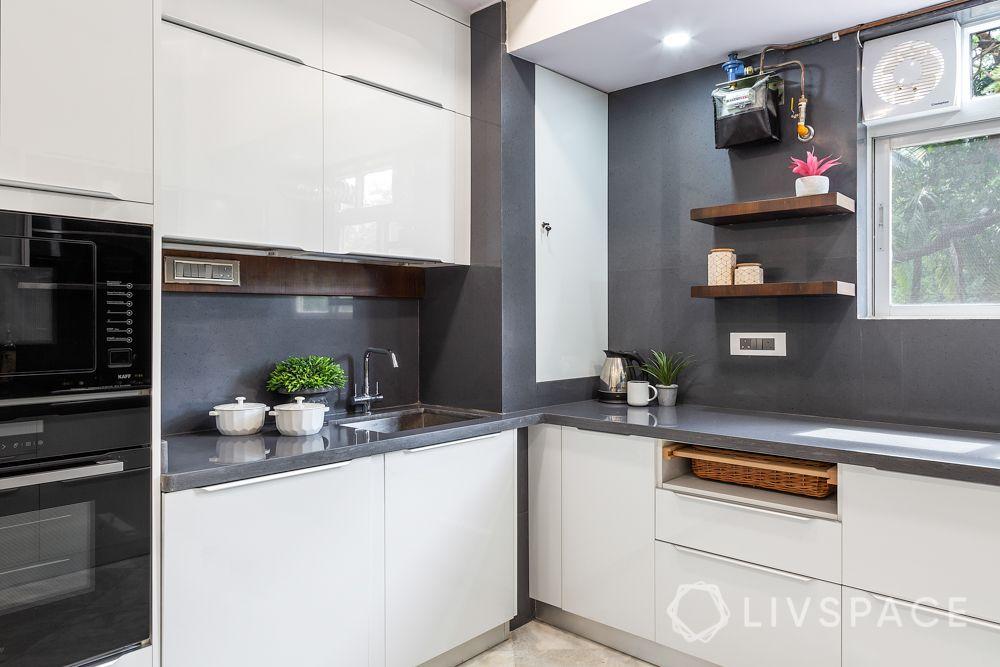 kitchen-renovation-interiors-in-Mumbai-microwave-oven-station-wicker-basket