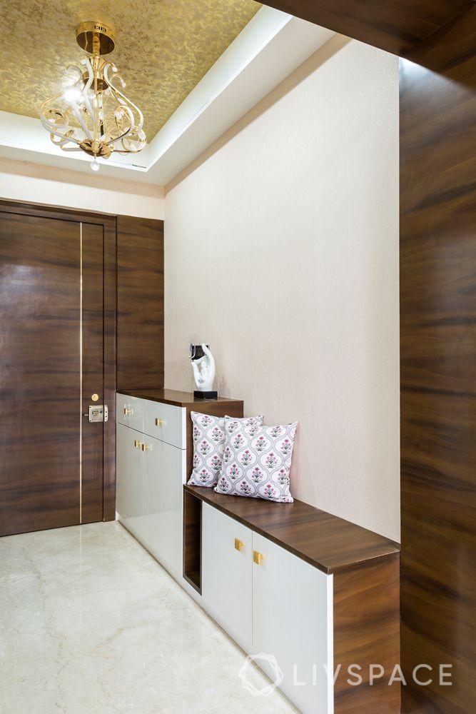 stylish home design-seating foyer-storage-shoe cabinet