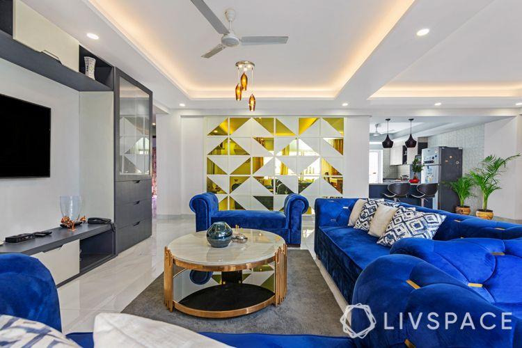 blue sofa designs-partition designs
