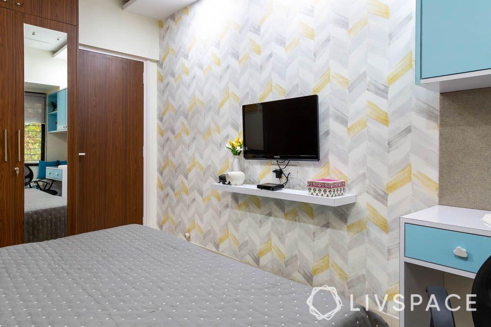 2-bhk-flat-in-mumbai-kids-bedroom-tv-unit