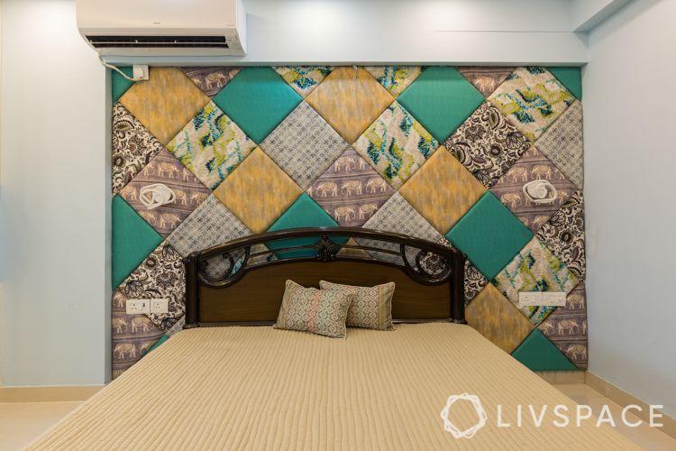 interior designer in noida-fabric wall panelling