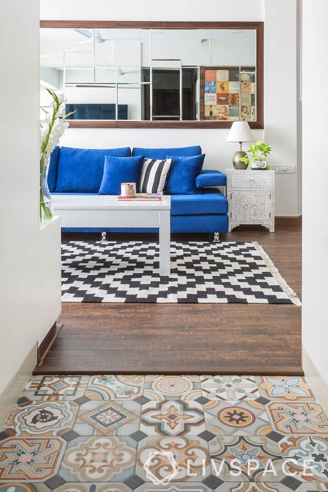 floor replacement tip-entryway flooring-patterned tiles