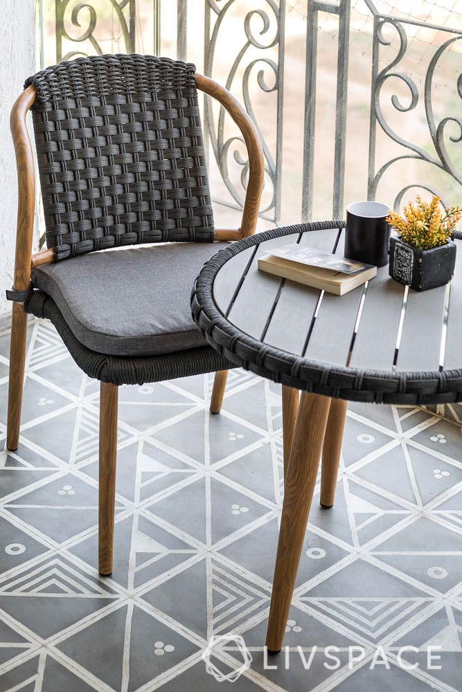 flooring replacement tips-hand painted tiles-balcony