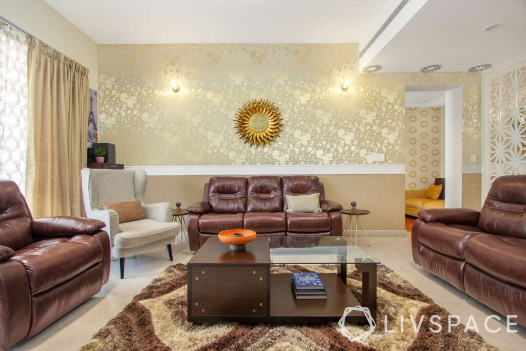 leather furniture-living room-leather couches