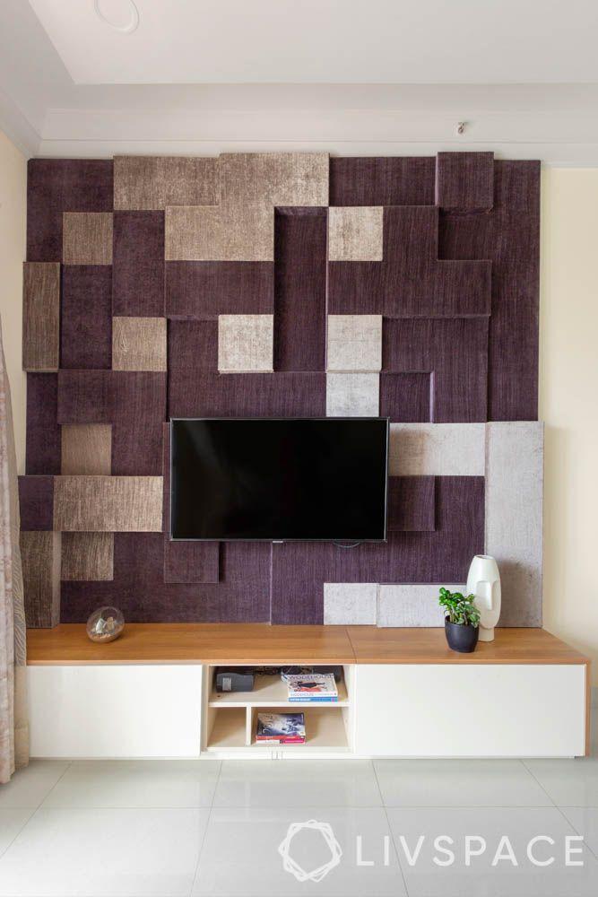 2 BHK in Bangalore-living room-tv unit
