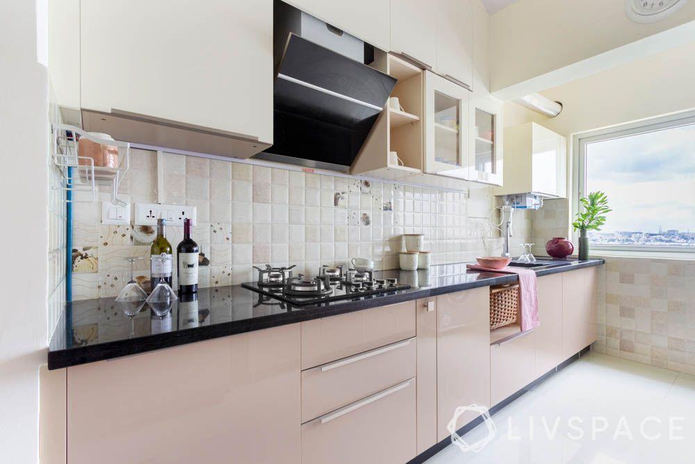 Acrylic kitchen-tiled backsplash-edge profiles