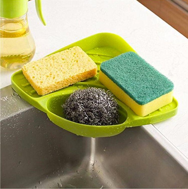 plastic holder for sinks-scrub holder