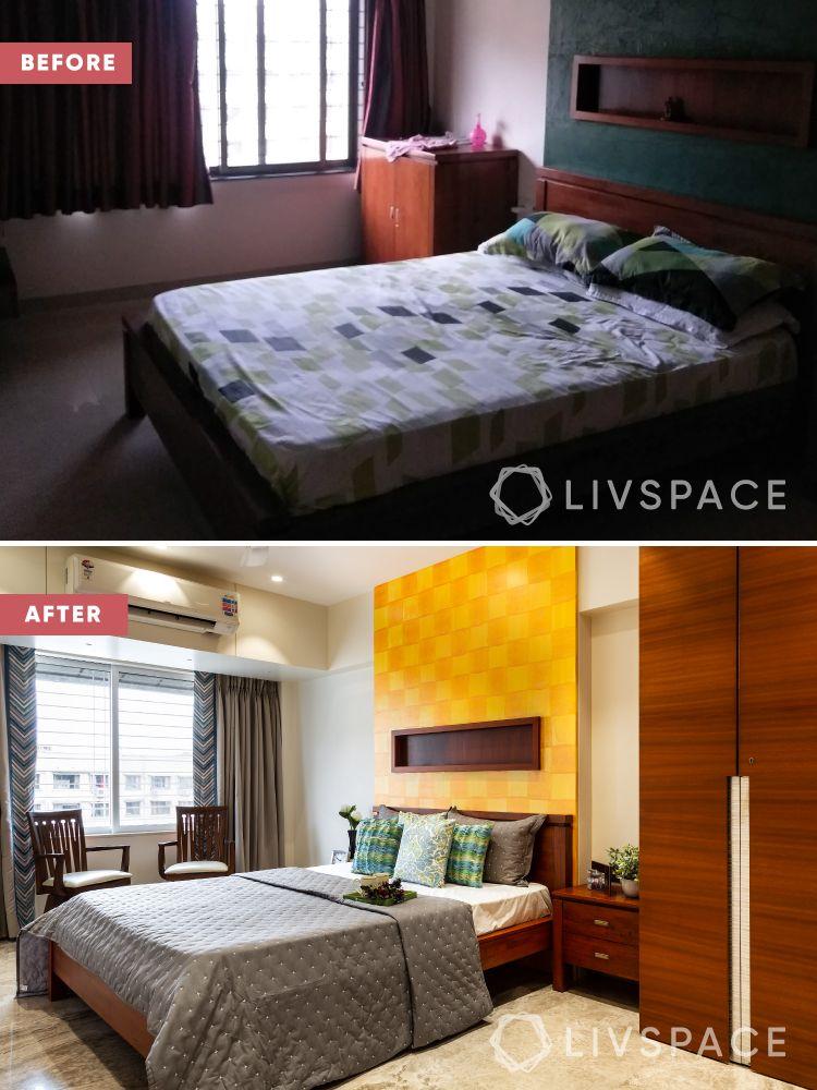 2bhk interior design-renovation-master bedroom