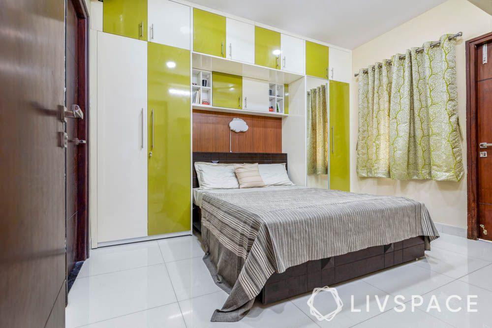 2bhk interior design-bedroom-wardrobes-loft