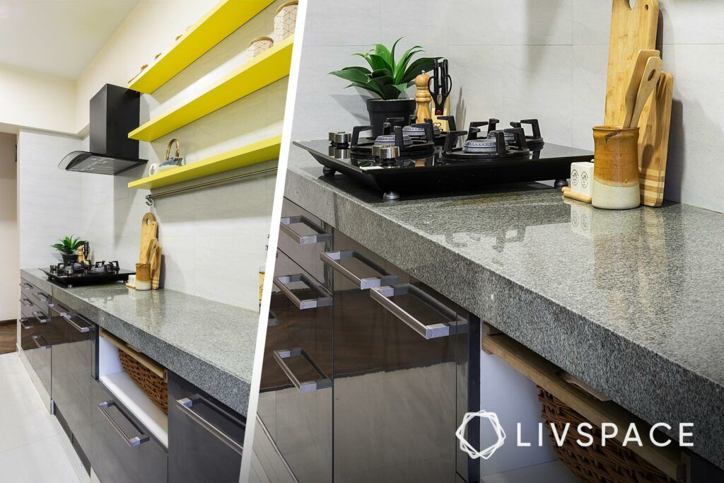 open shelves kitchen-two toned kitchen