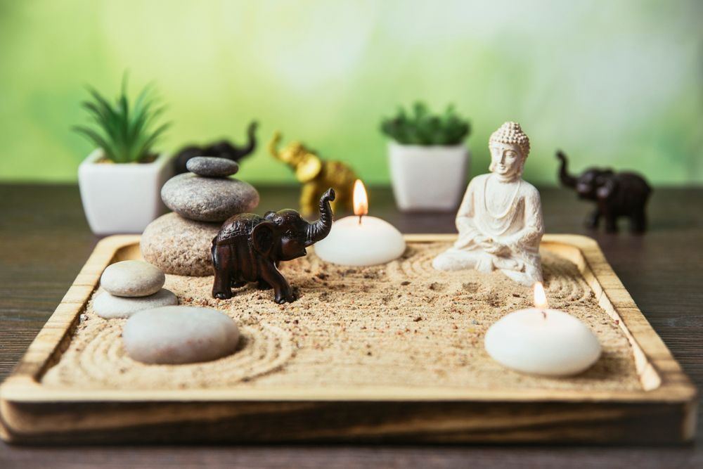home decor hacks-zen garden-buddha-decor