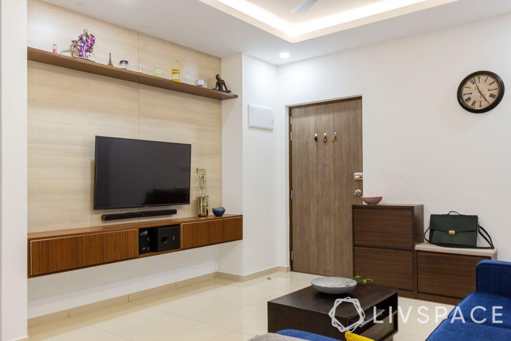 interior design firms in bangalore-shoe cabinet-tv unit