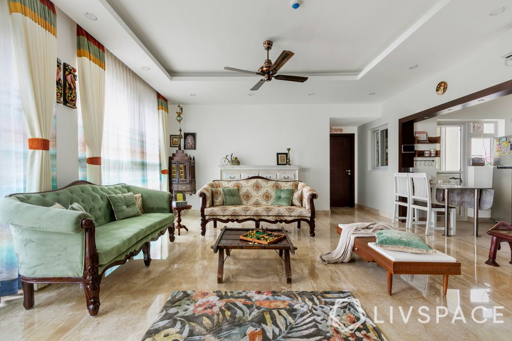 vintage-interior-design-living-room-sofas-pooja-unit-fallse-ceiling