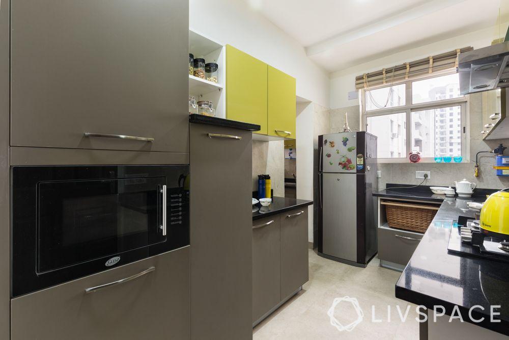 3bhk-flat-design-kitchen-laminate kitchen