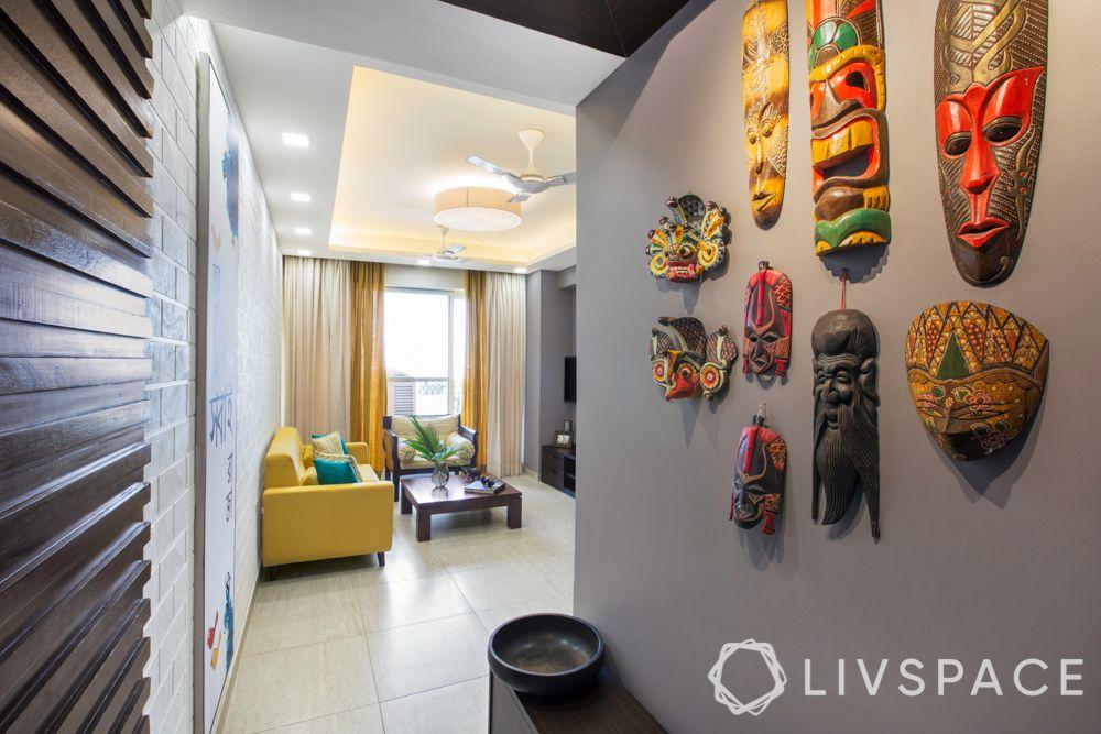 foyer decoration-folk art-painted masks