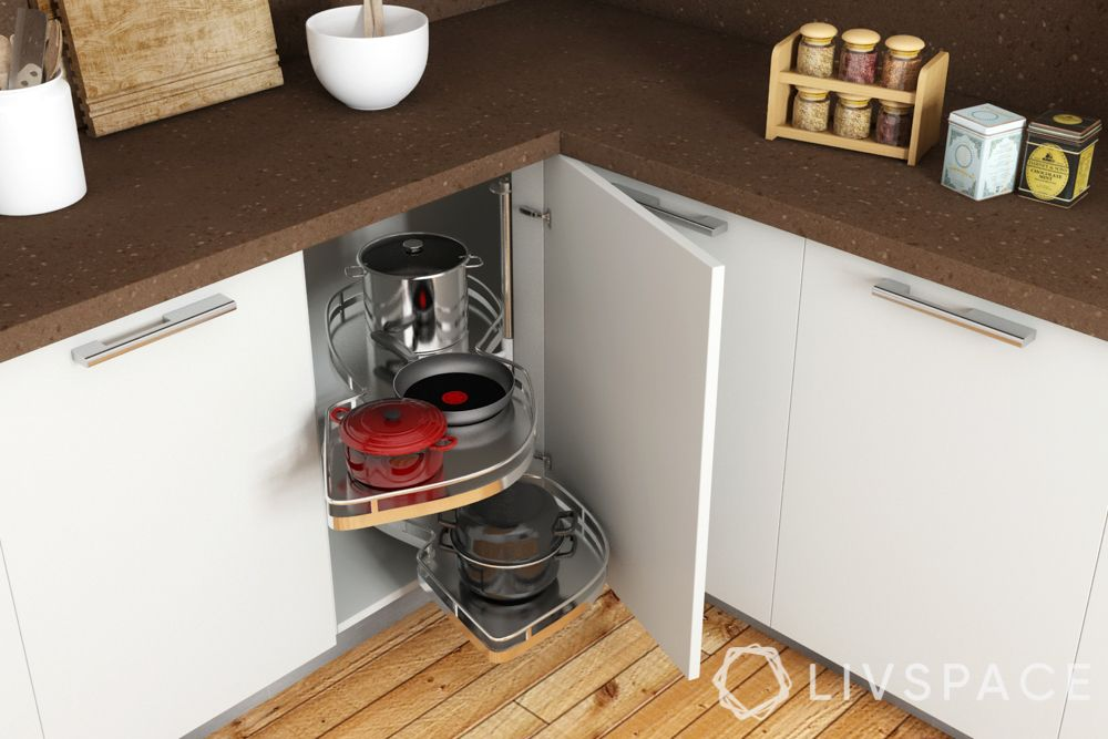 small indian kitchen design in l shape-corner units