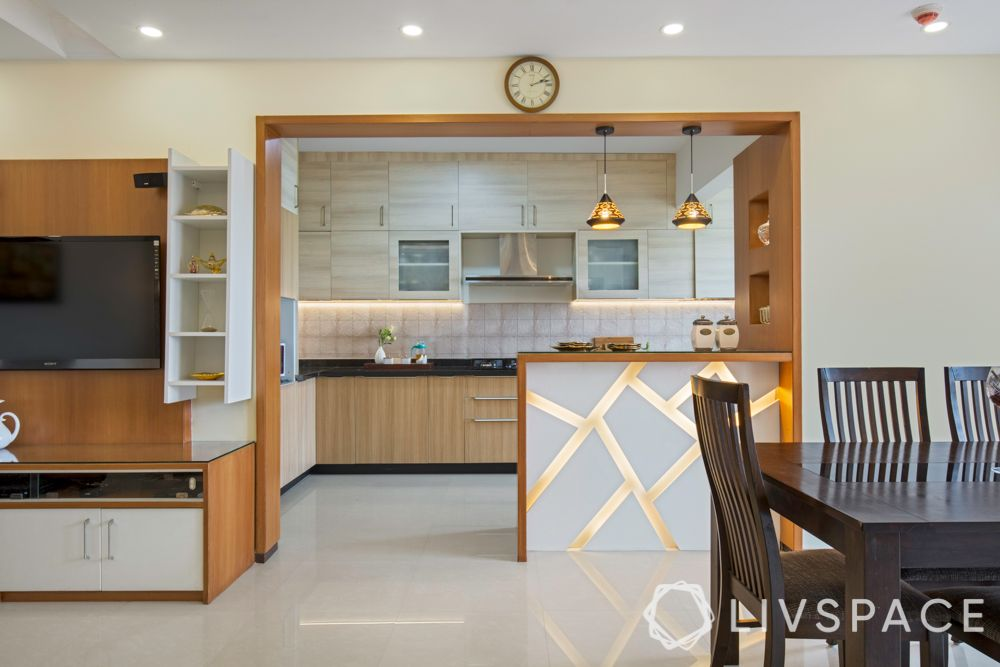 semi open kitchen-verdict-wooden kitchen