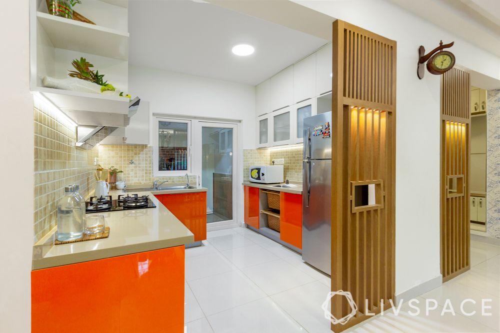 Sink-hob-chimney-edge profiles-mosaic backsplash-membrane kitchen