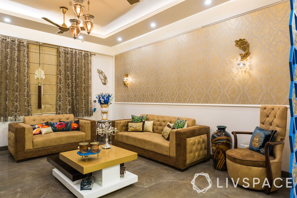 4-bhk-in-dwarka-living-room-metallic-wallpaper