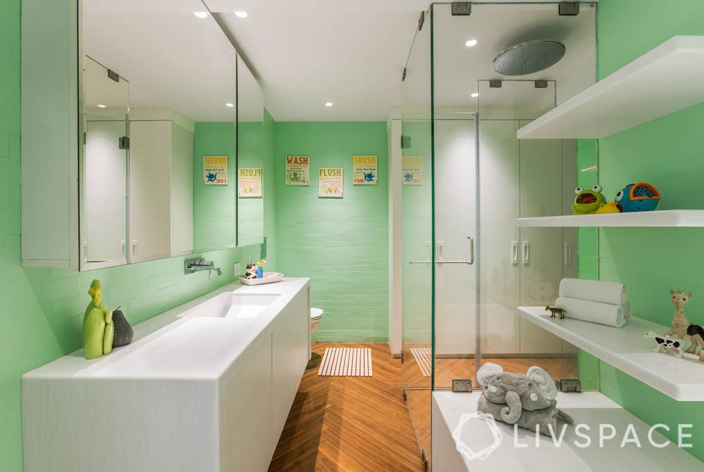 bathroom-decor-ideas-pop-colour-green