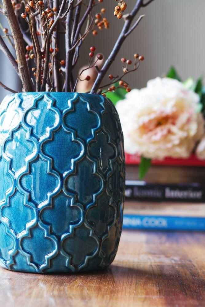 blue vase-blue ceramics