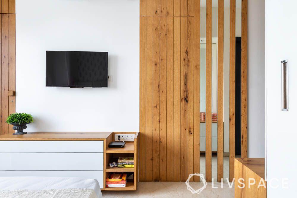 3bhk-house-design-master-bedroom-tv-unit