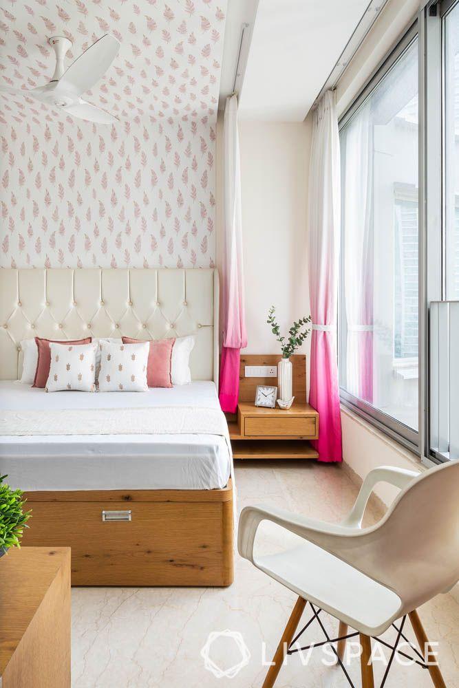 3bhk-house-design-master-bedroom-wooden-side-table
