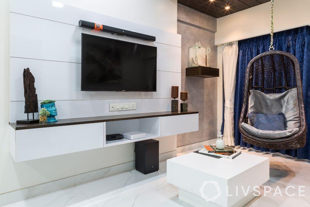 Corner decoration-living room-swing