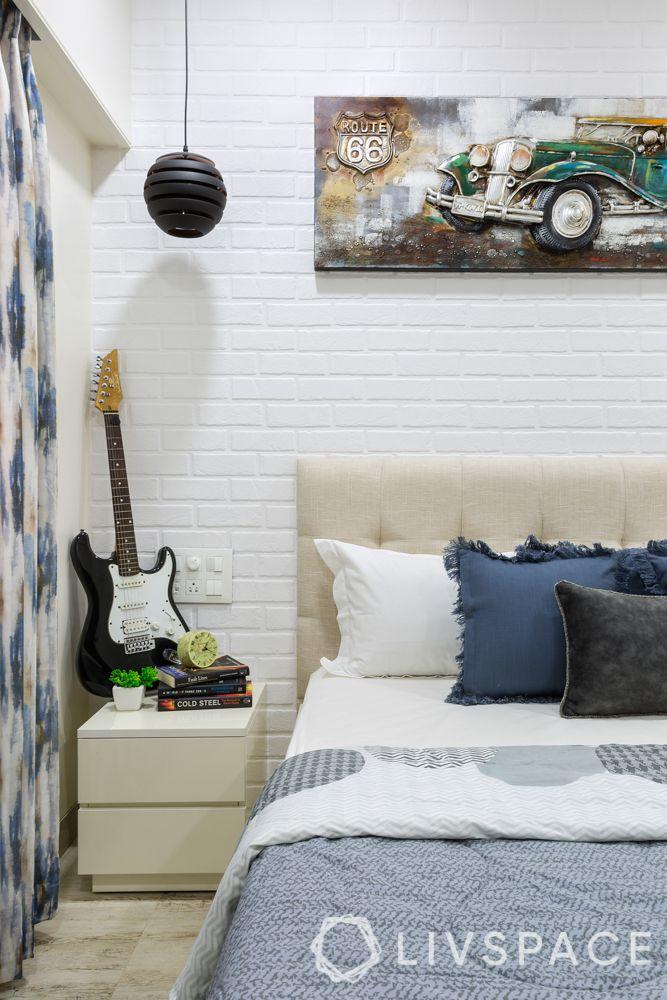 Bedroom-side table-guitar