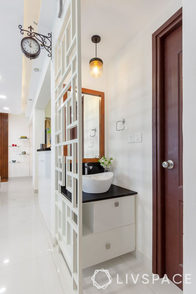 3 bhk house-partition design-vanity counter design