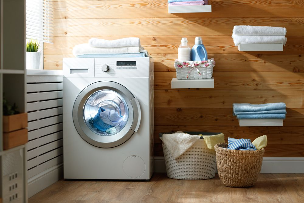 How To Choose A Washing Machine white home appliances-baskets-laundry-clothes care