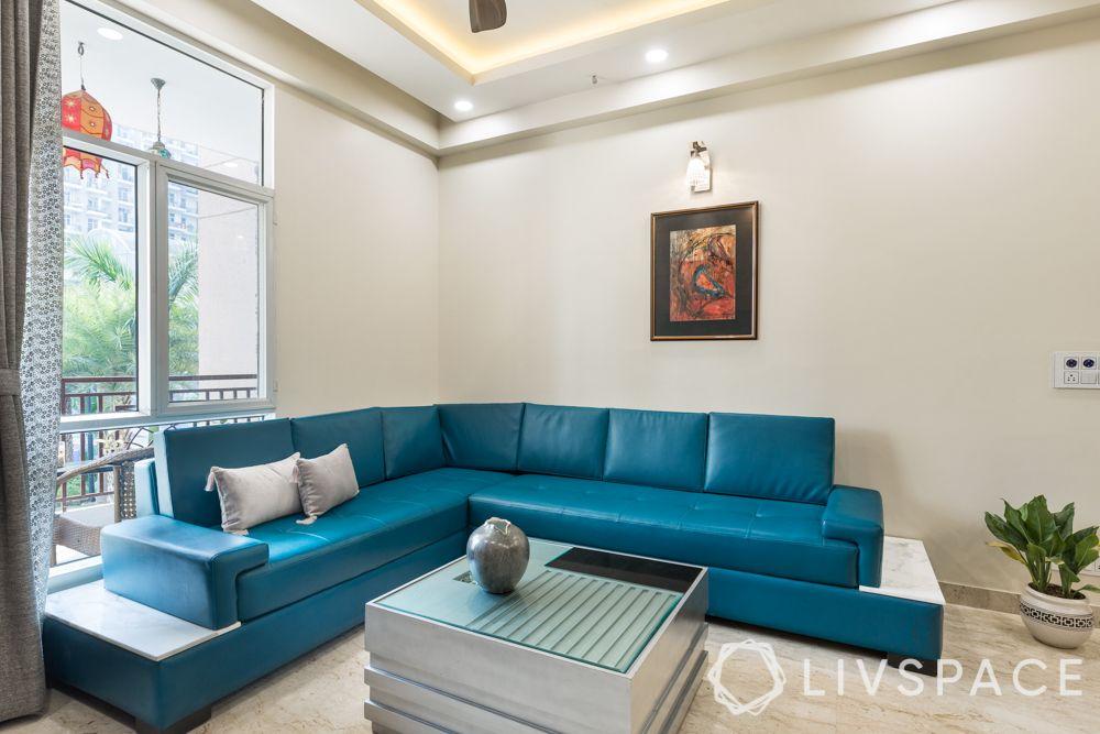 vastu shastra tips-leatherette sofa-l shape