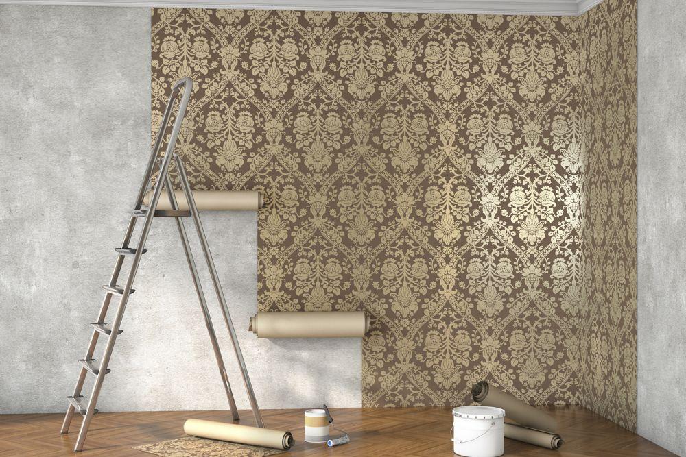 wallpaper-home-decor-golden-foil-wall