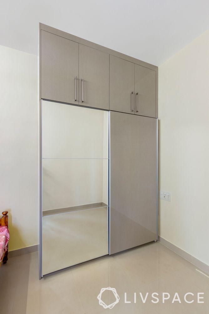 3 bhk in bangalore-sliding wardrobe-parents bedroom