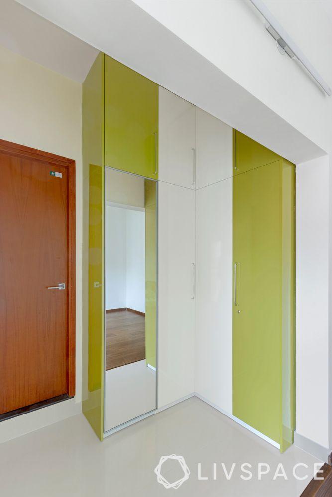 master bedroom-laminate wardrobe-l shaped wardrobe