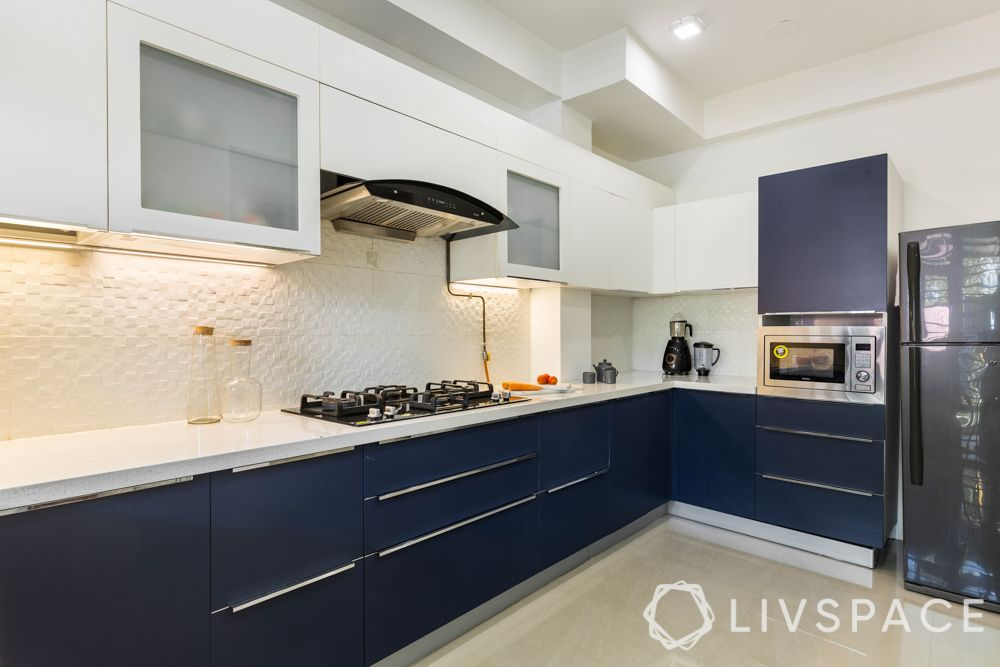 2020 kitchen design-navy blue kitchen-l-shaped kitchen