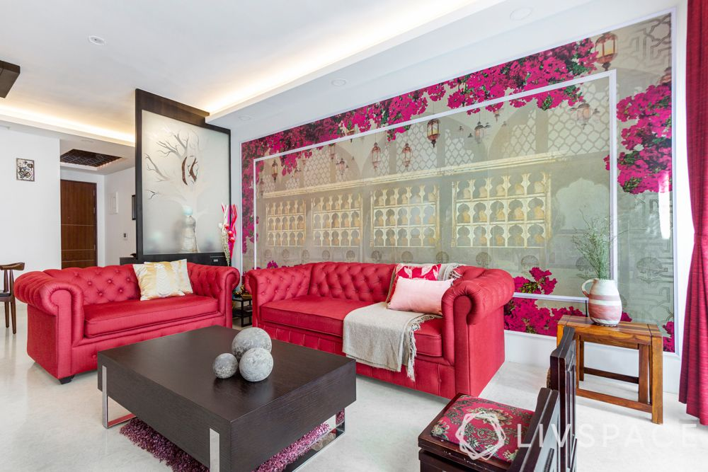 3-bhk-flat-interior-design-mughal-wallpaper