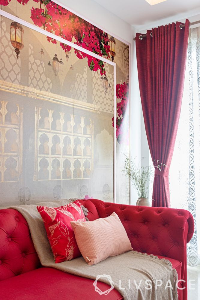 3-bhk-flat-interior-design-wallpaper-drapes