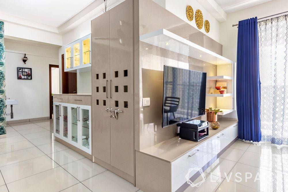 interior design company in bangalore-l-shaped unit-high-gloss finish