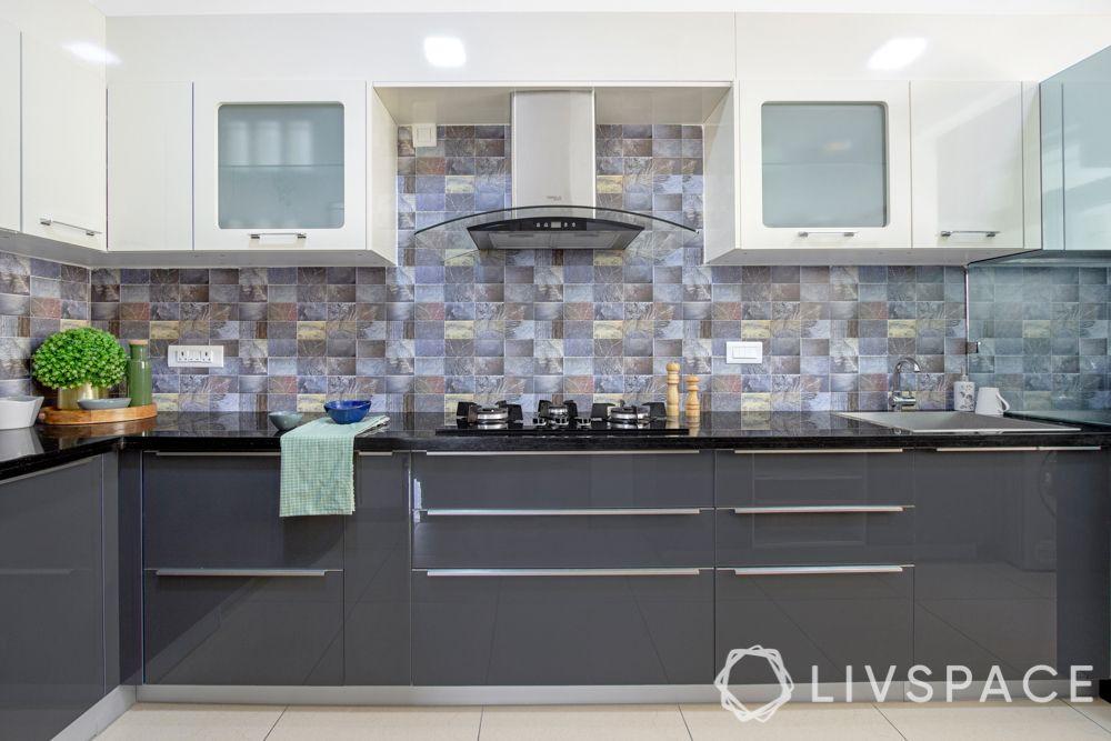 kitchen designs-grey kitchen-glass partition designs