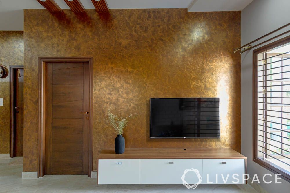 top 10 interior designers in bangalore-living room-tv unit
