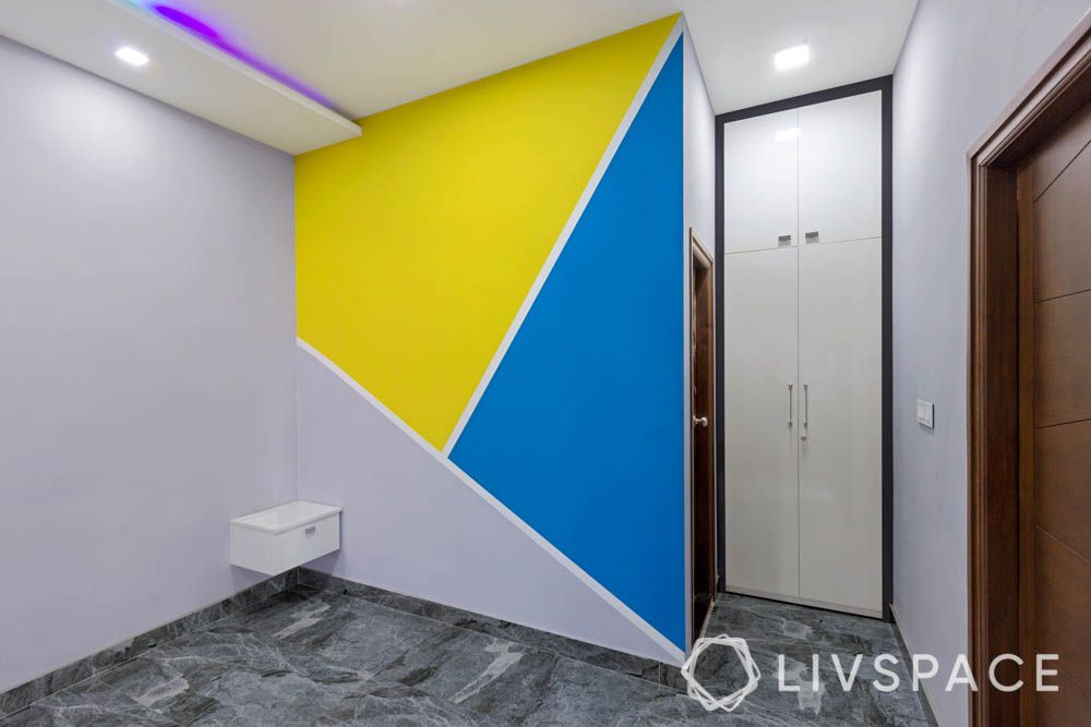 top 10 interior designers in bangalore-accent wall-modular wardrobe