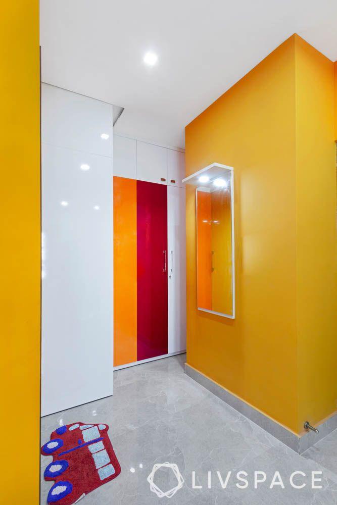 kids bedroom-wardrobe-duco paint