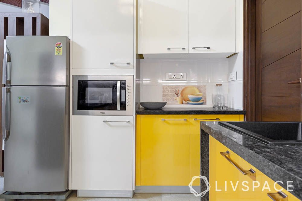top 10 interior designers in bangalore-tall unit-built in microwave