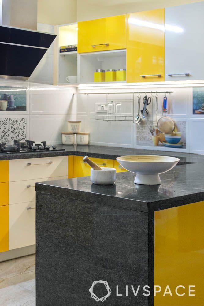 top 10 interior designers in bangalore-accessory rack-open shelves-granite countertop