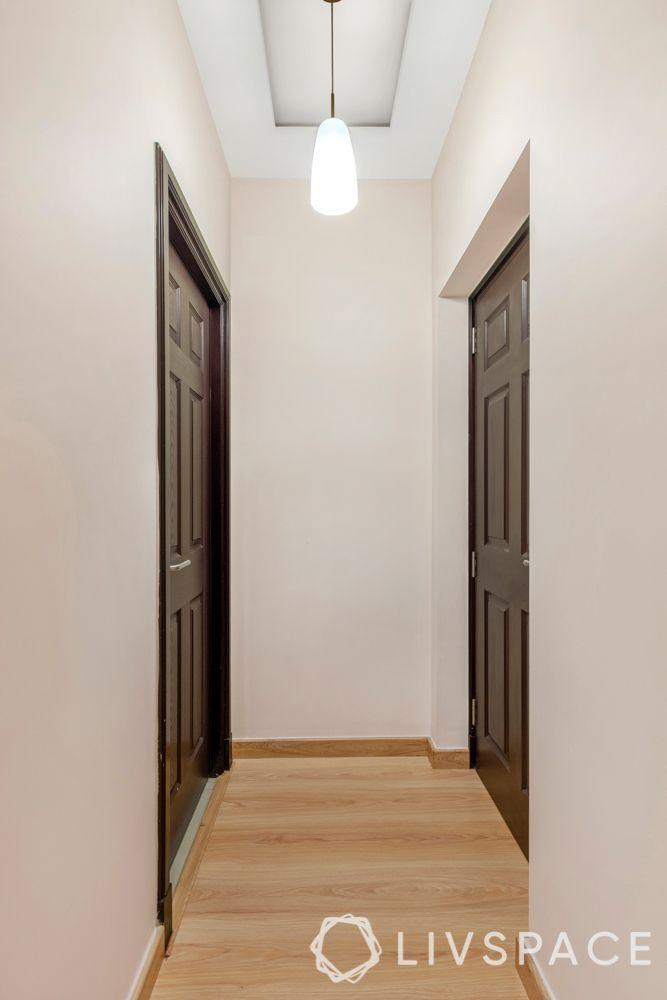 best interiors in bangalore-wooden flooring-wooden laminate wardrobe-vanity unit