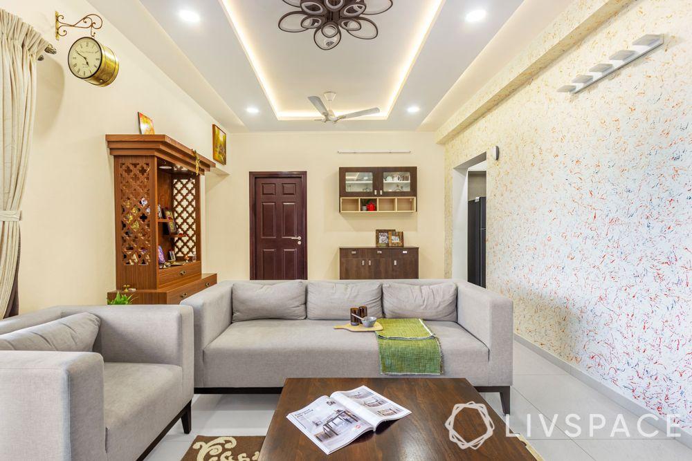 best interiors in bangalore-TV unit-pooja unit-coffee table design-crockery cabinet
