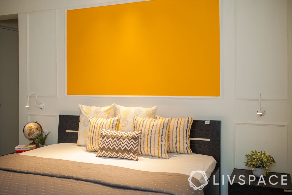 cushion buying guide-yellow wall ideas-cushion designs