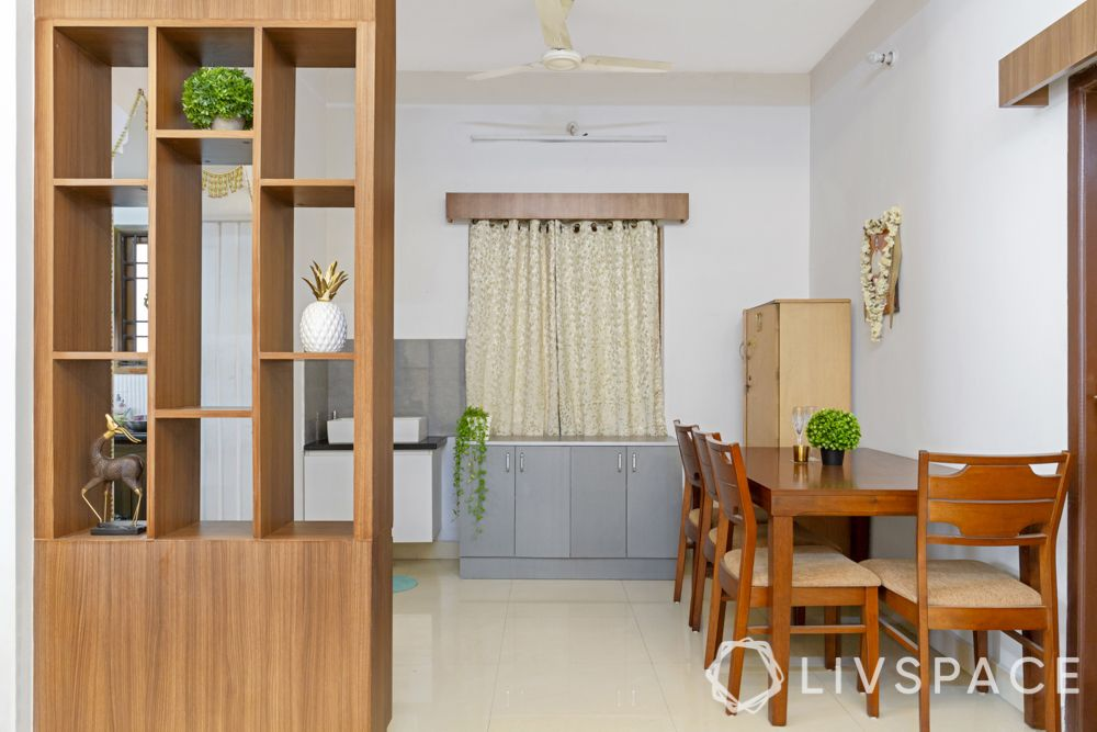 wooden laminate partition-display nooks