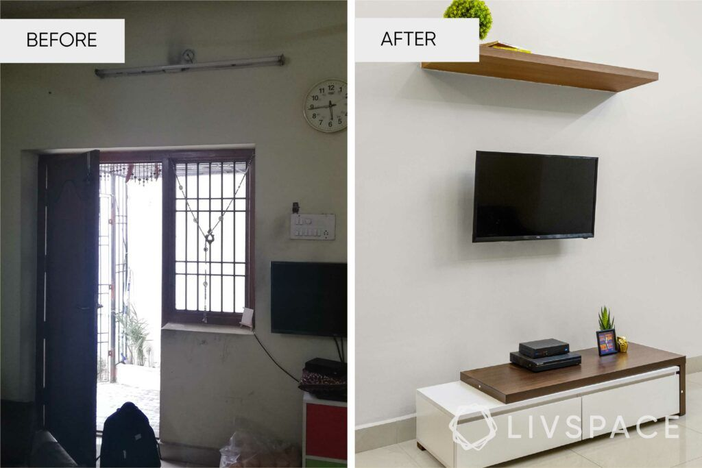 interior designers in Chennai-tv unit revamp
